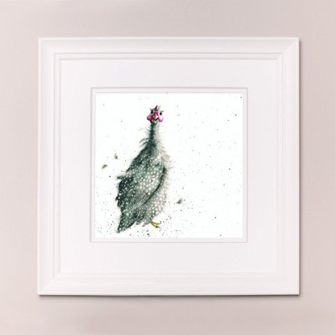 Guinea Fowl Wrendale Country Set Large Frame