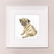 Pug Love Wrendale Country Set Large Frame