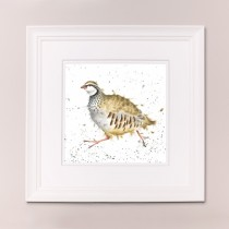 Red Legged Bird Wrendale Country Set Large Frame